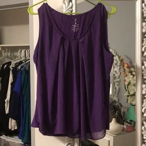 NYCO purple blouse size xl